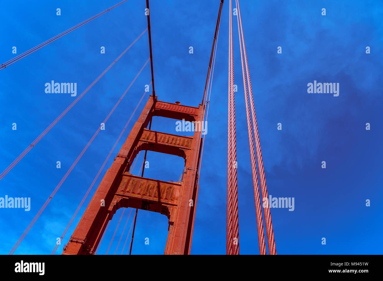 Structure of the Golden Gate Bridge Tower, San Francisco, California,United States. - Stock Image
