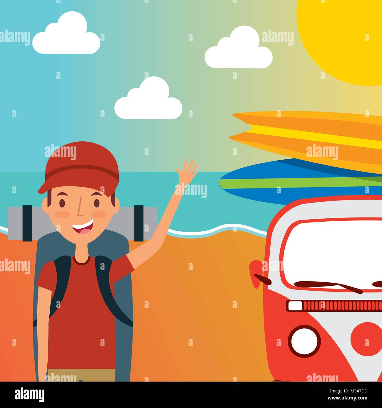 people summer vacations - Stock Image