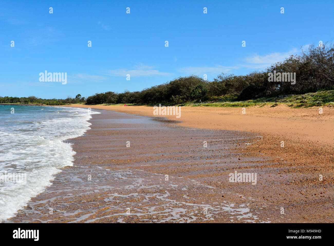 Mon Repos beach near Bundaberg in Queensland, Australia. - Stock Image