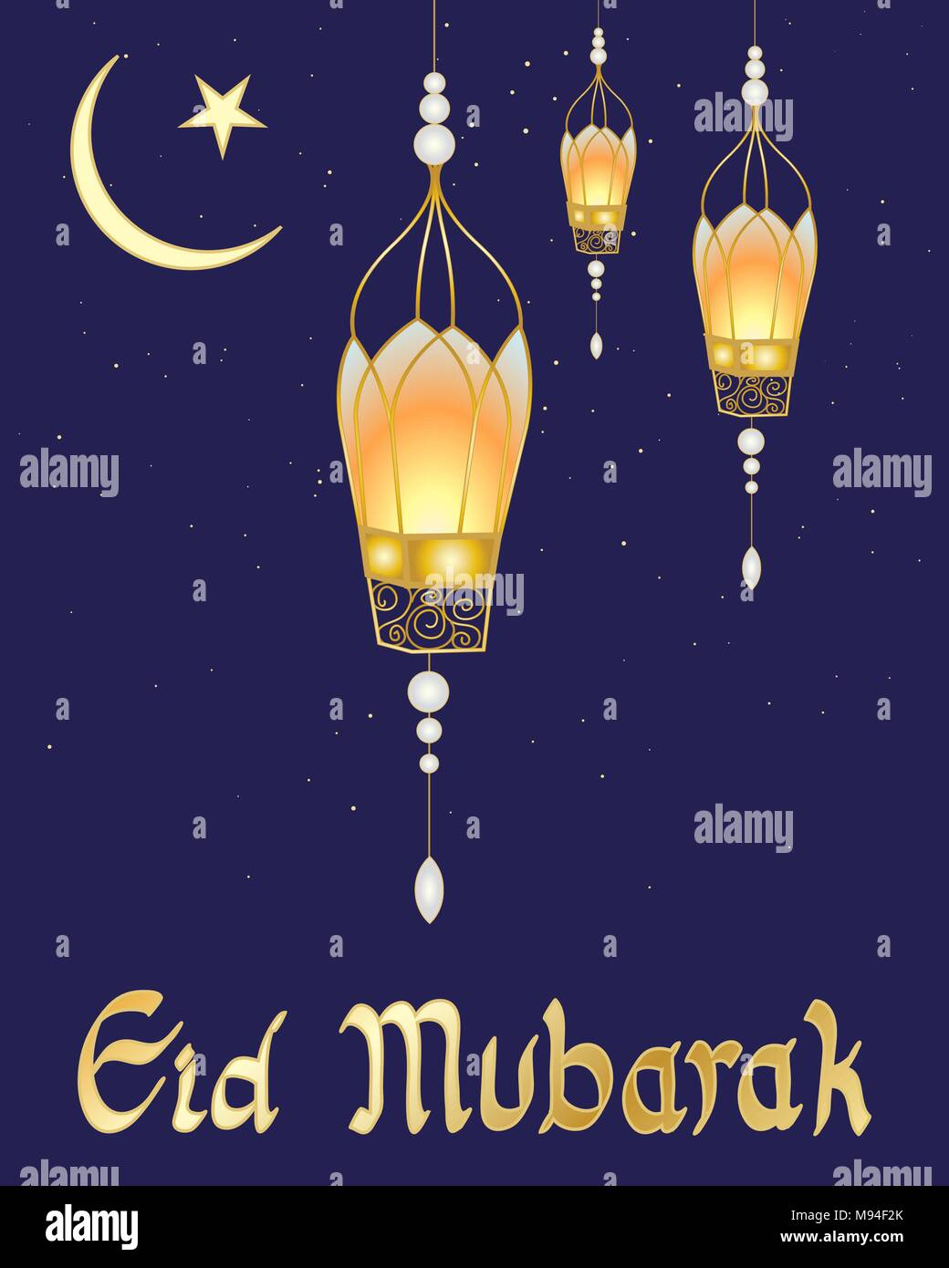 a vector illustration in eps 10 format of a festive Eid card