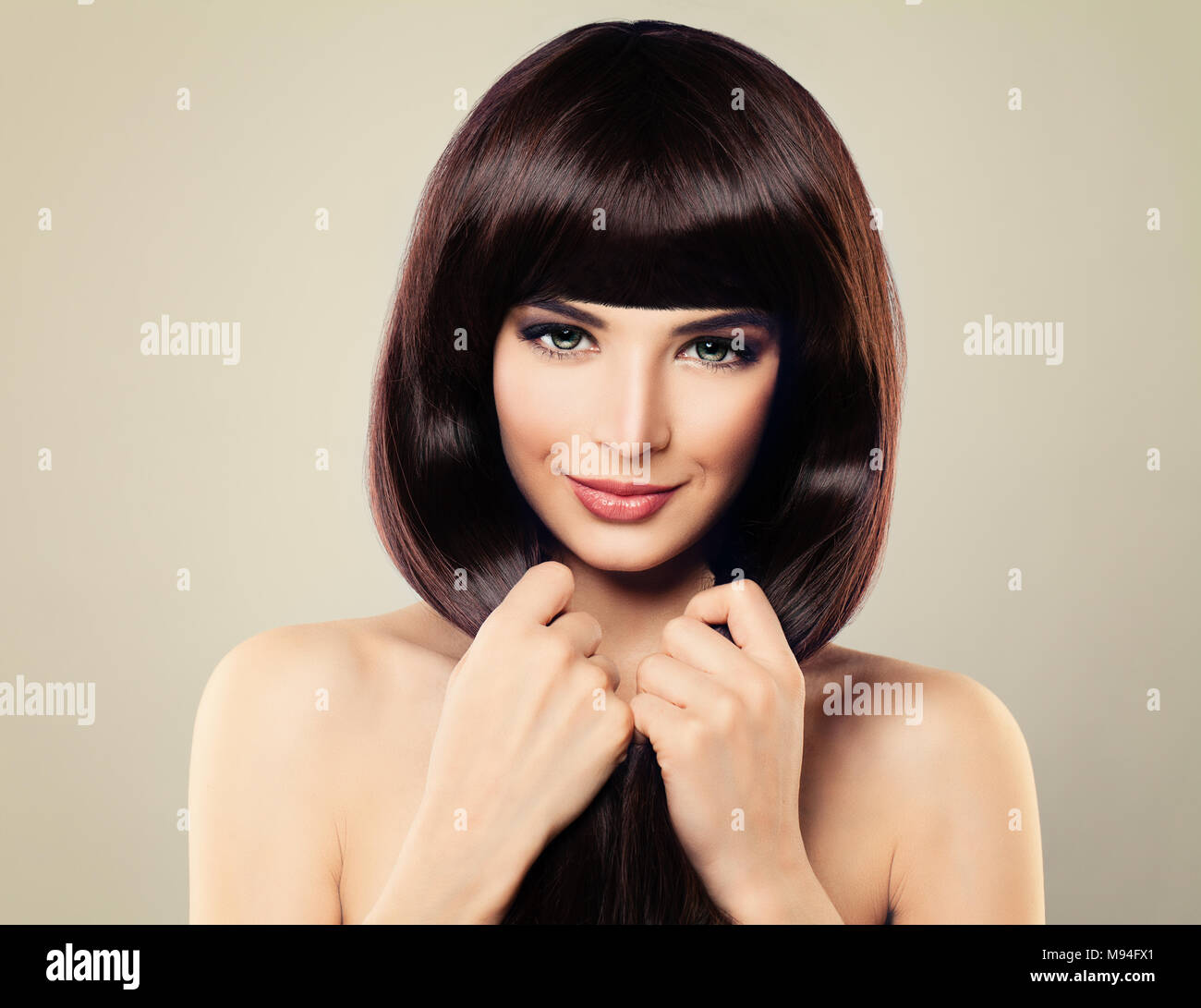 Haircare Concept Beautiful Fashion Model With Long Healthy Hair