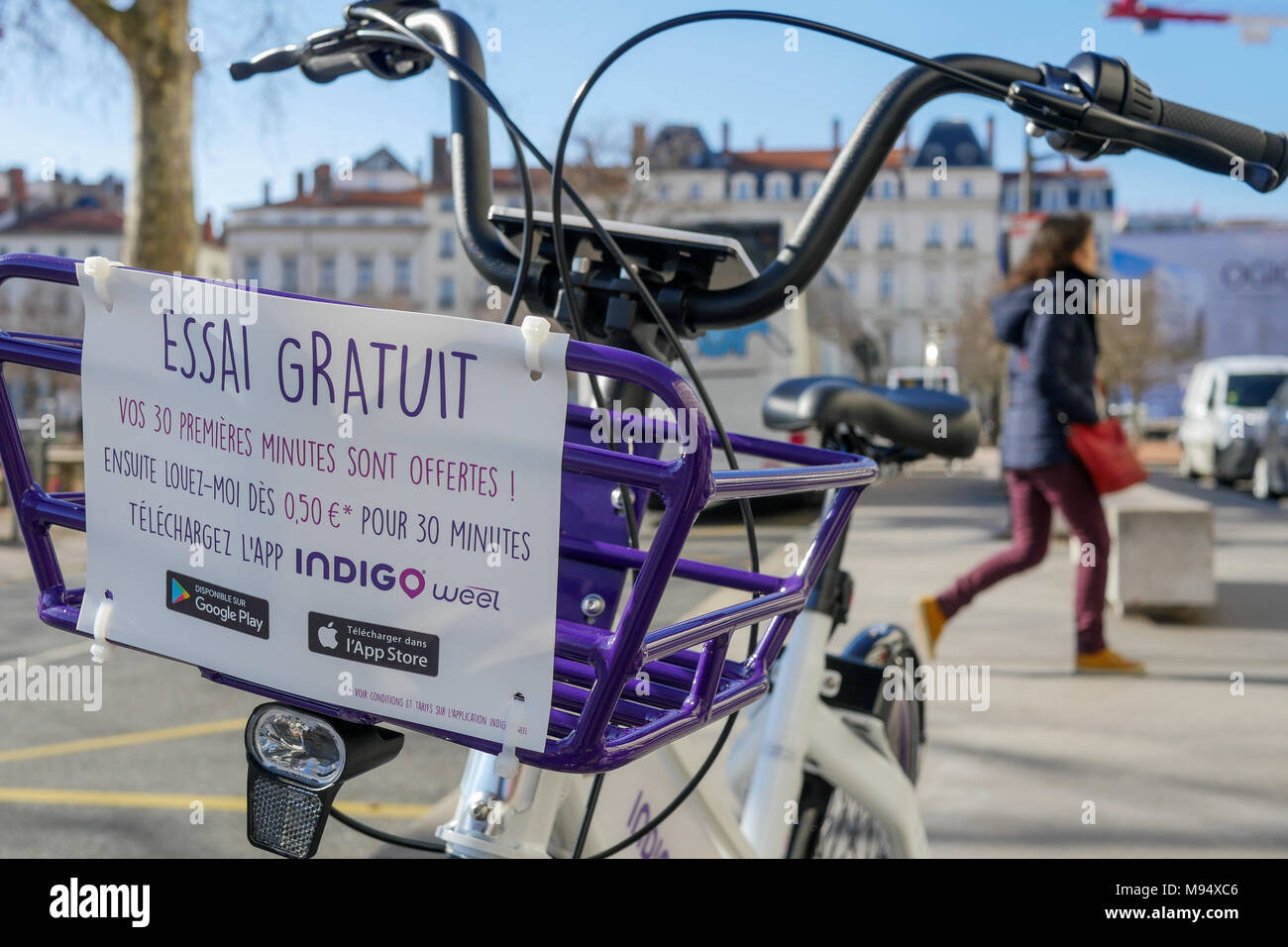 Lyon, France, 22nd March 2018: A few weeks after the removal
