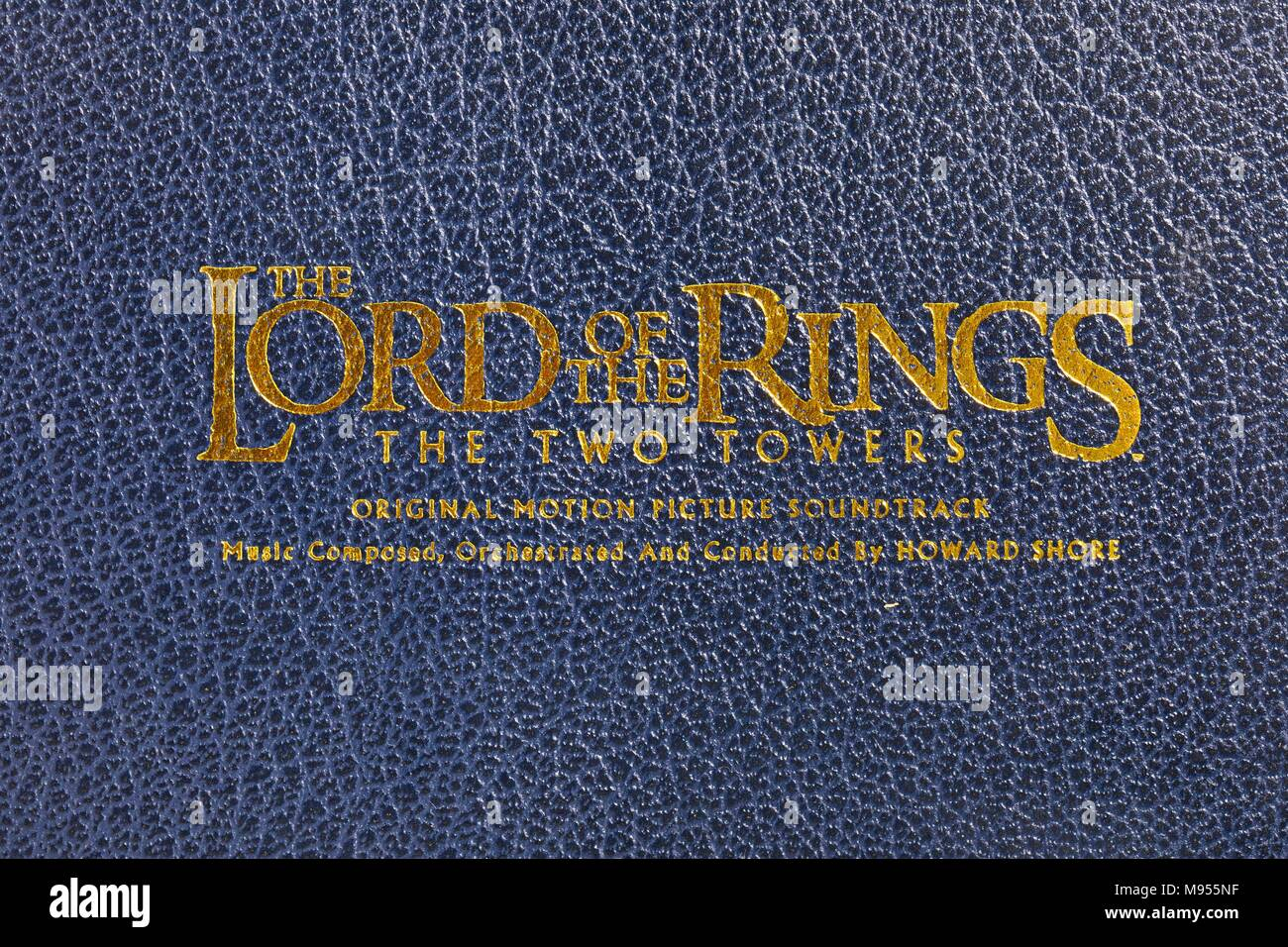 The Lord of The Ring soundtrack - Stock Image
