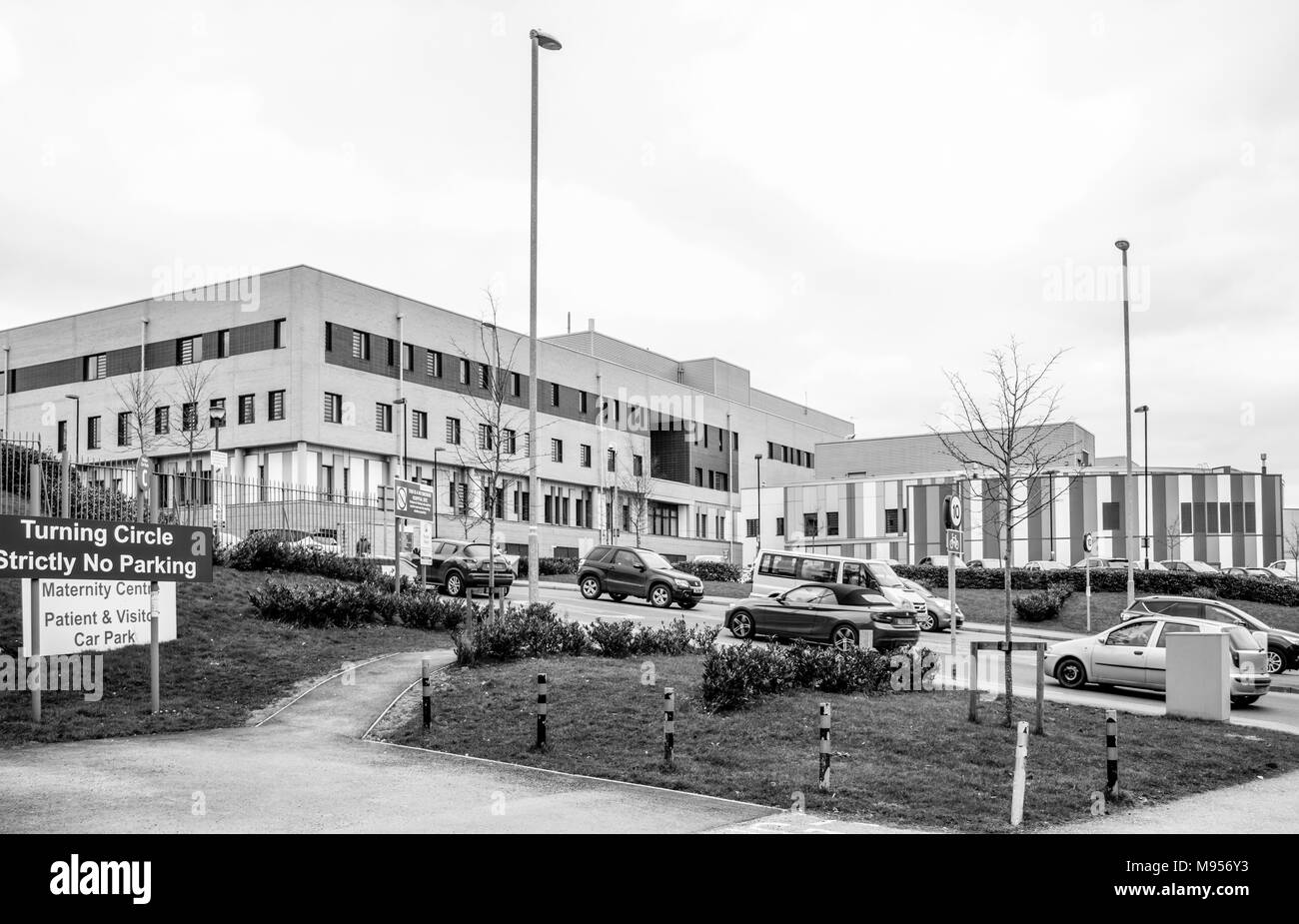 The Royal Stoke Hospital of the Universities of North Staffordshire Hospitals Trust in Stoke on Trent - Stock Image
