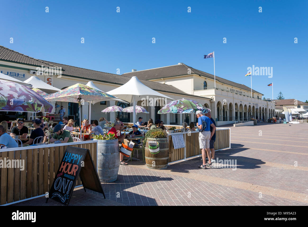 Lush on Bondi Cafe Restaurant at Bondi Pavilion, Bondi Beach, Sydney, New South Wales, Australia - Stock Image