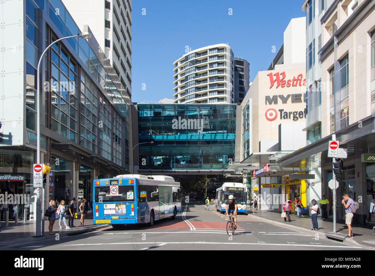Westfield shopping centre, Oxford Street, Bondi Junction, Sydney, New South Wales, Australia - Stock Image