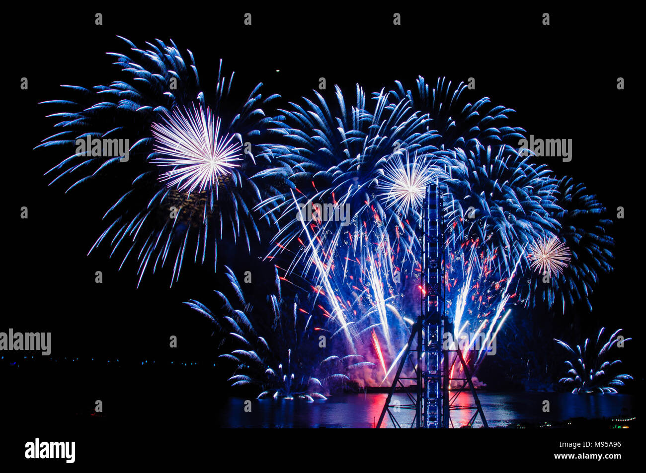 Italy entry from Pyrolympics in Pasay Philippines - Stock Image