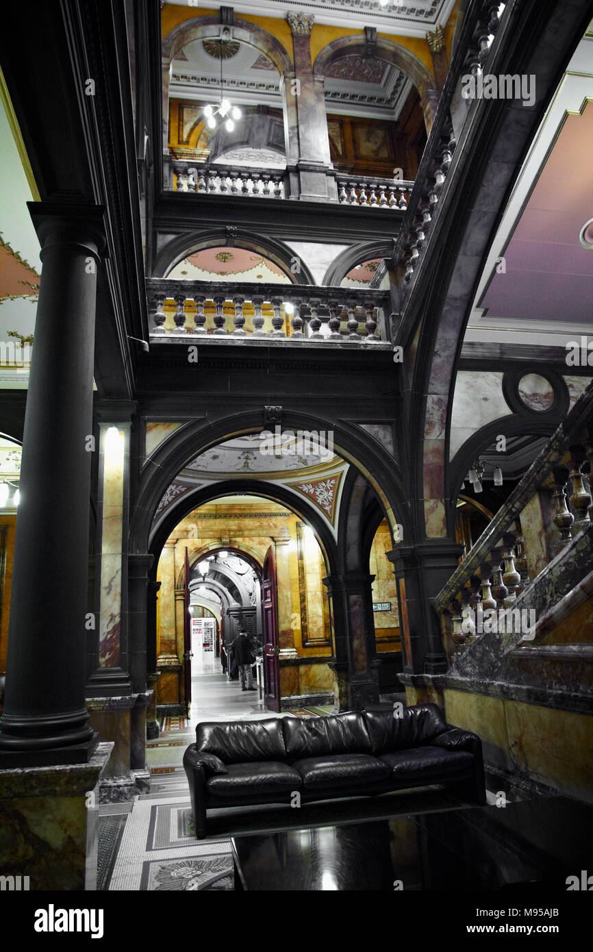 Glasgow City Chambers Marble Staircase Entrance Stock Photo