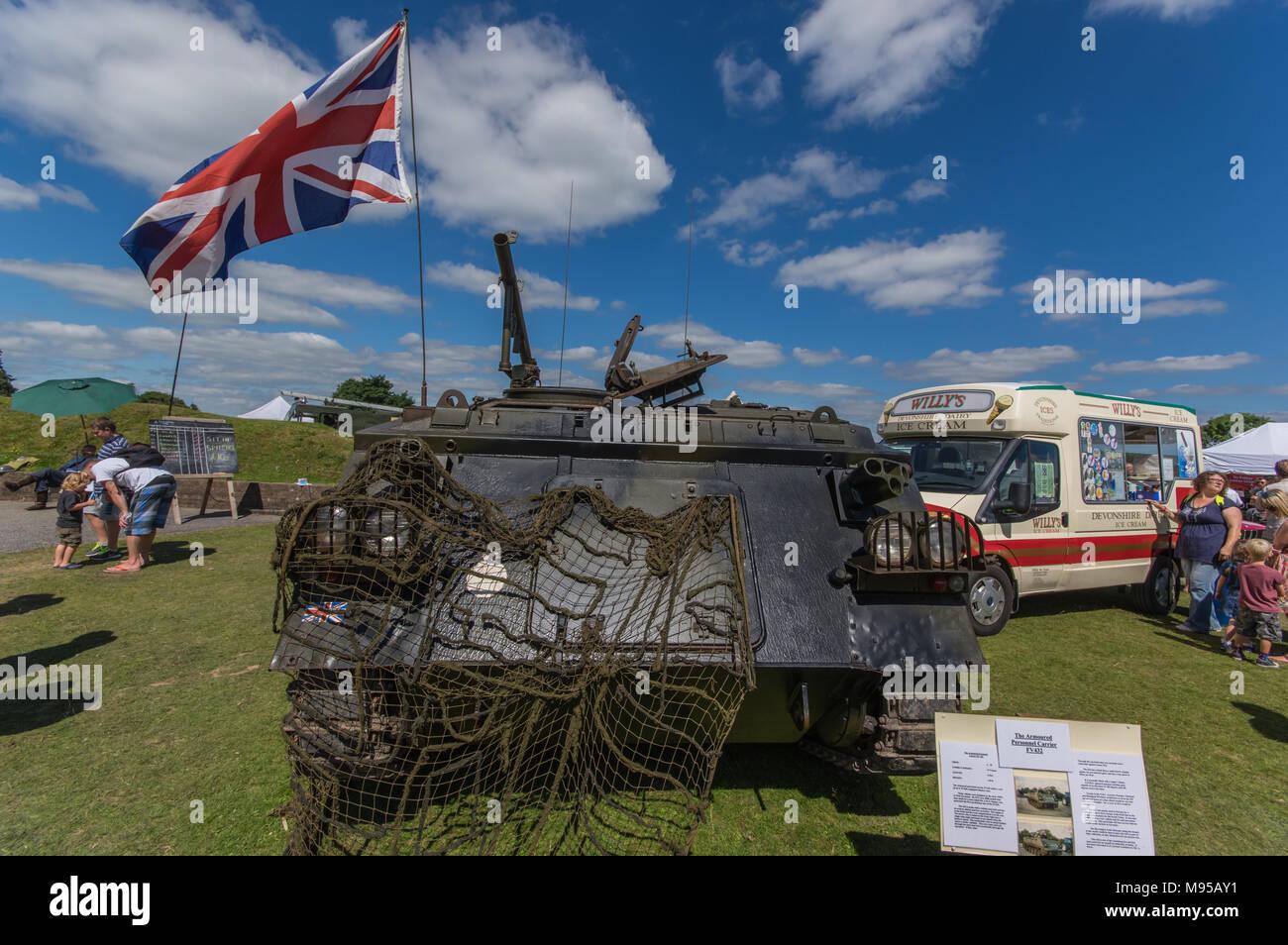An APC at RAF Harrowbeer - Stock Image