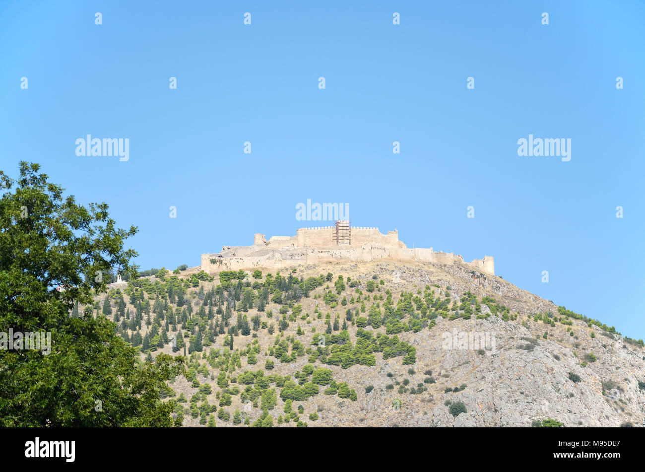 Castle of Argos or Larissa castle in Peloponnese, Greece - Stock Image