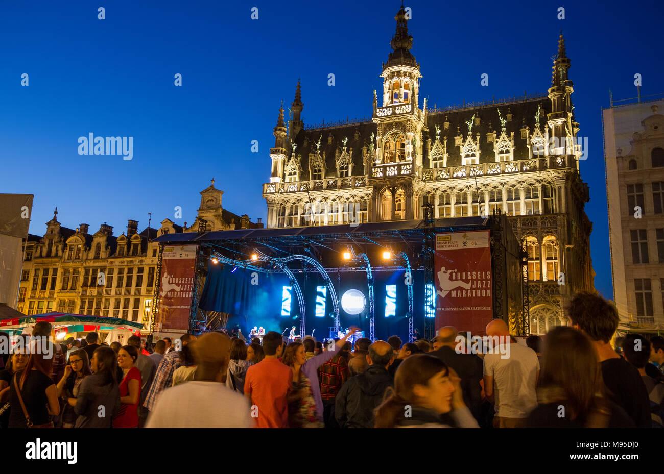 Brussels jazz marathon - Stock Image