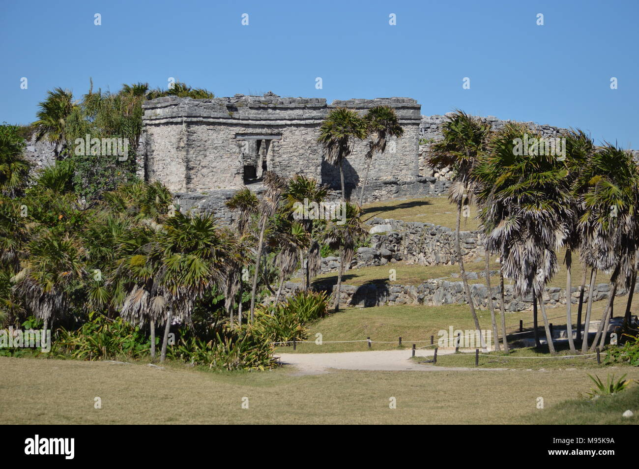 The Tulum ruins in Mexico - Stock Image