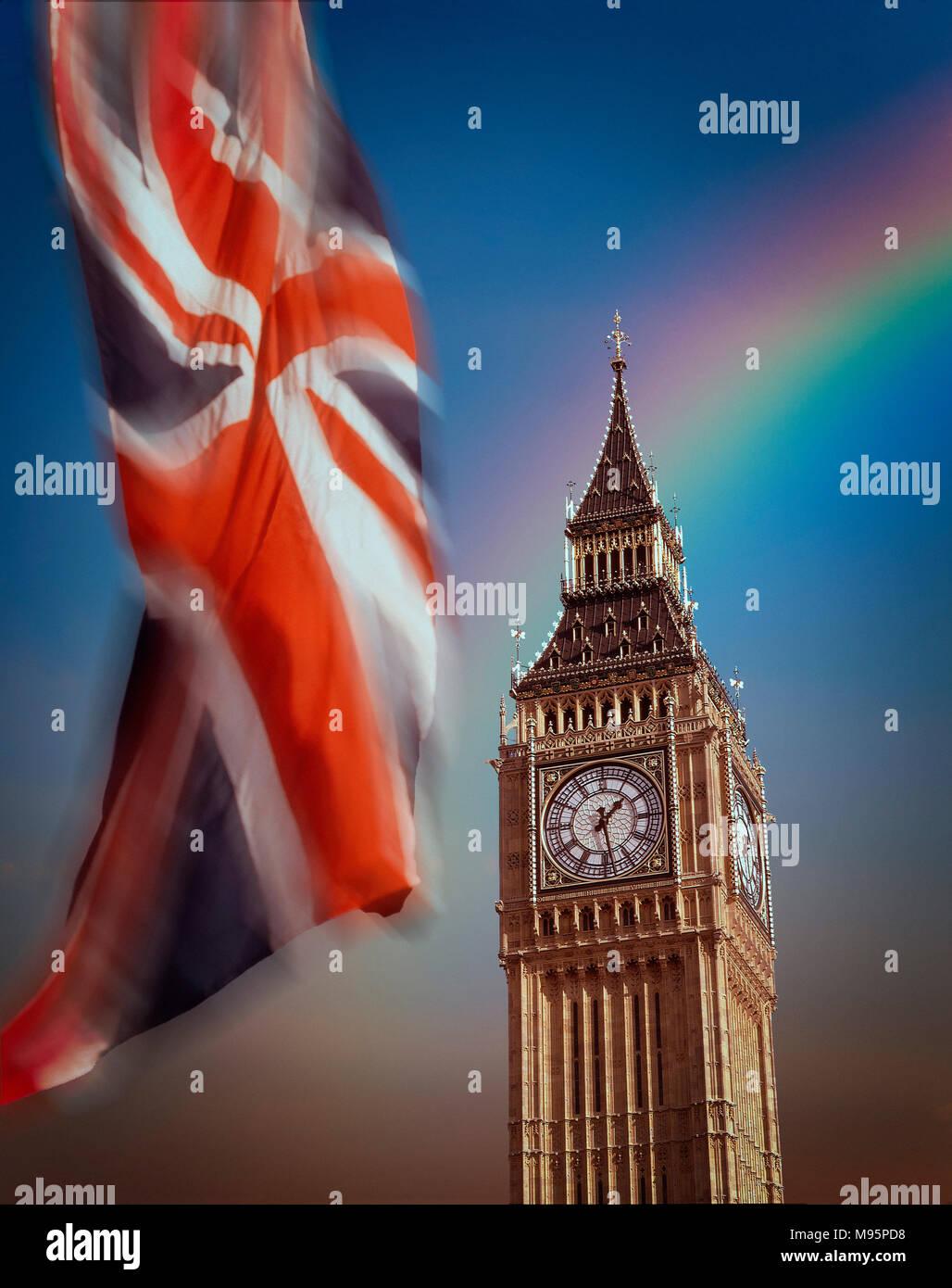 GB - LONDON: Big Ben (Elizabeth Tower) - Stock Image