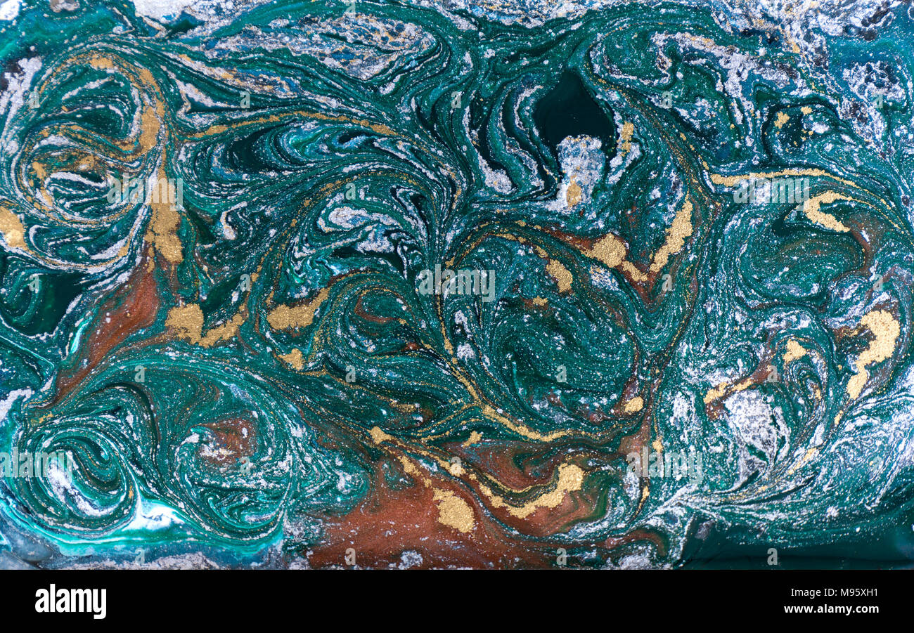 Marble Abstract Acrylic Background Nature Blue And Green