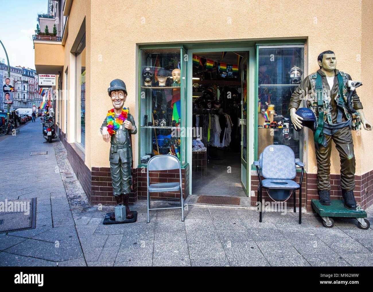 Berlin,Schöneberg  Military Store shop entrance  Shop