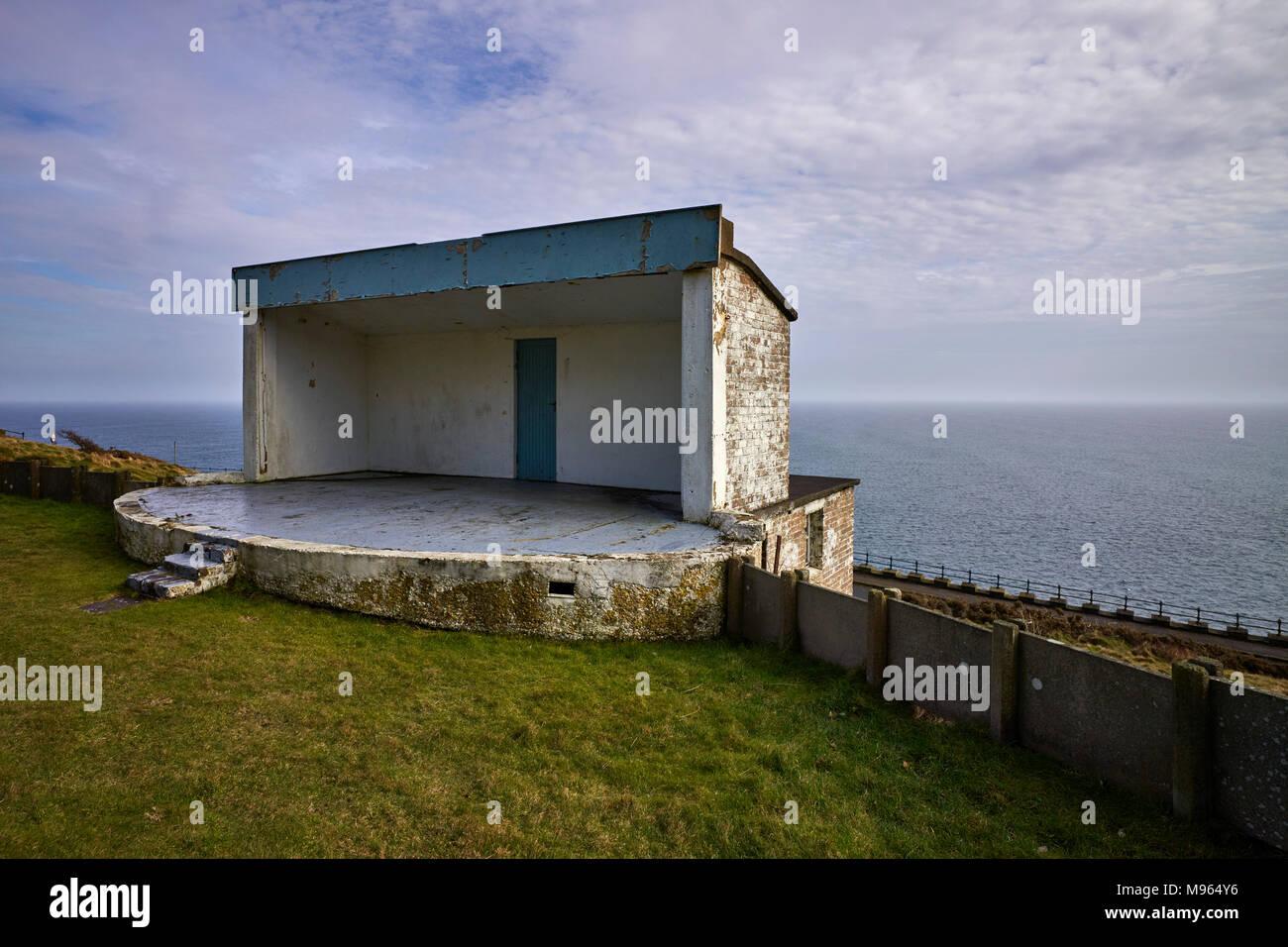 The no longer used open air theatre overlooking the Irish Sea on Douglas Head in Douglas, Isle of Man - Stock Image