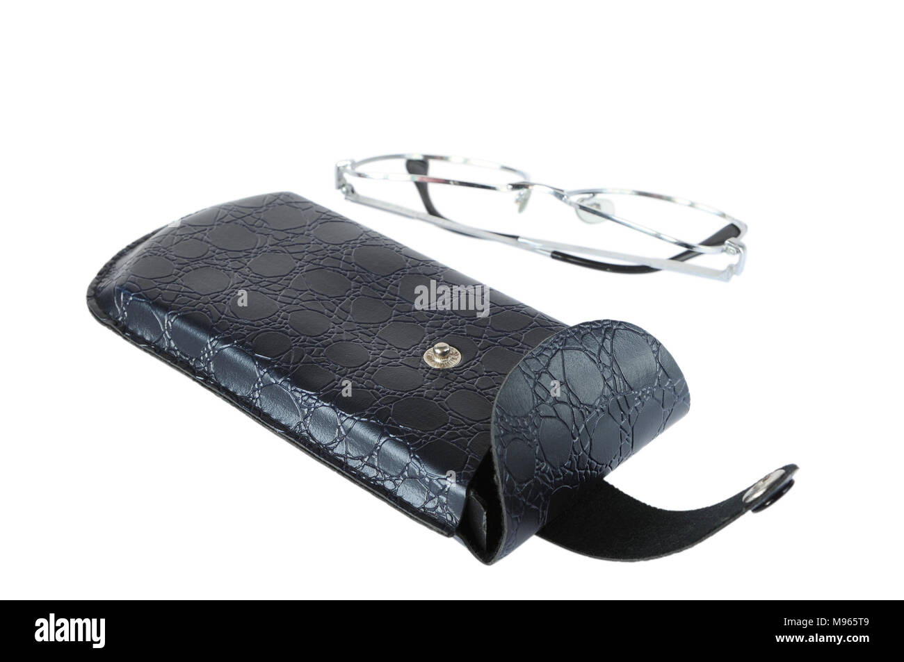 Spectacle case isolated on white - Stock Image