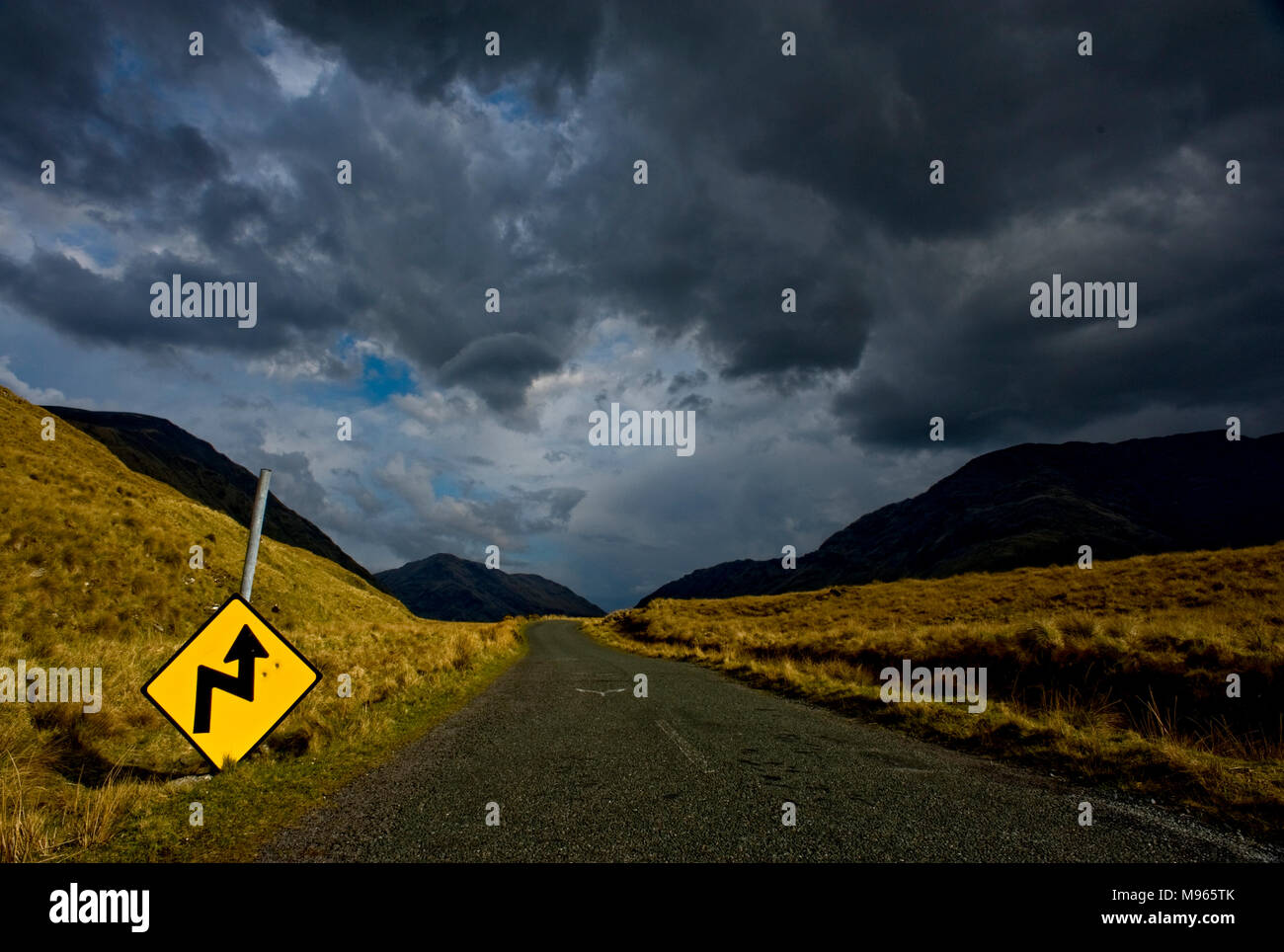 Road to Doo Lough,County Mayo, Ireland - Stock Image