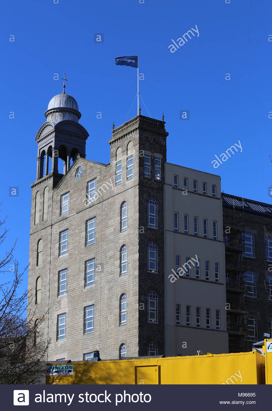 Former Baxter Brothers Mills being refurbished into Hotel Indigo Dundee Scotland  March 2018 - Stock Image