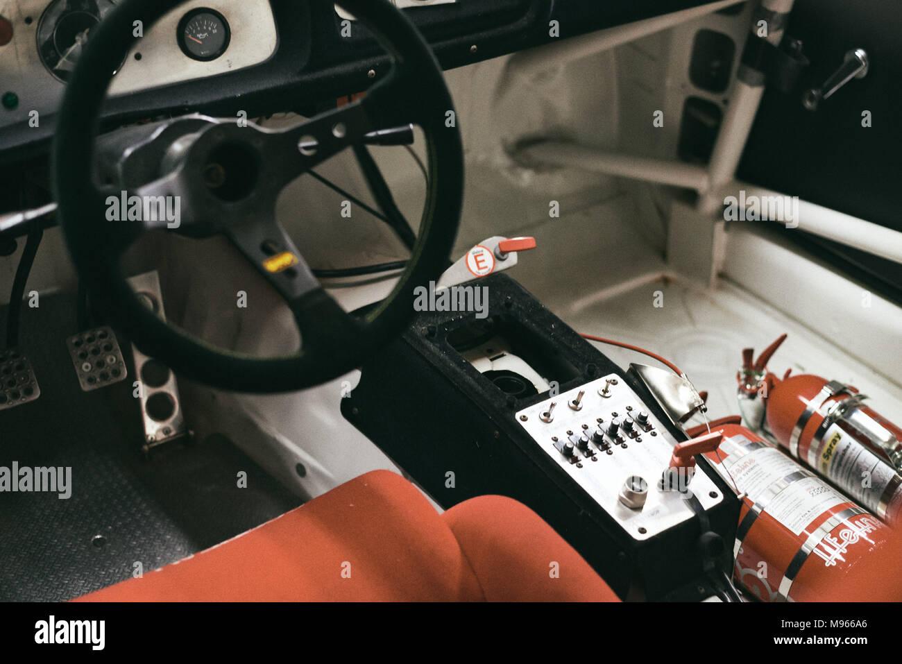 Vintage Racecar Interior Stock Photo 177772286 Alamy