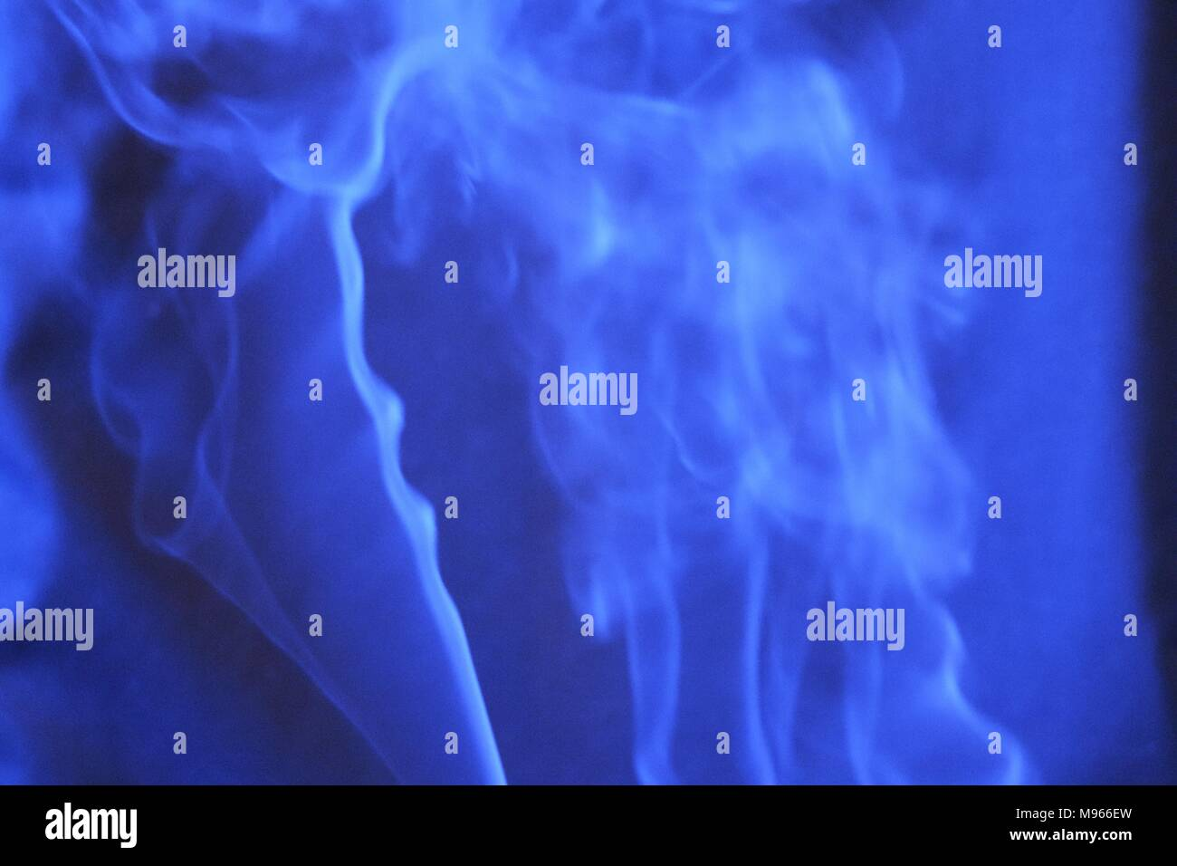 Whirling puffs of incense smoke, mysterious - Stock Image