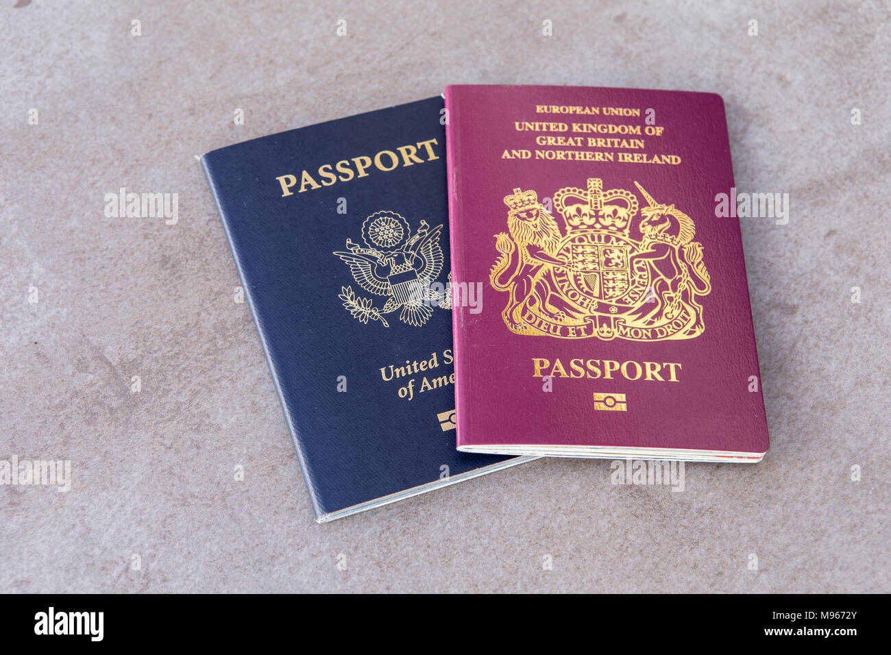 British And American Passports Together