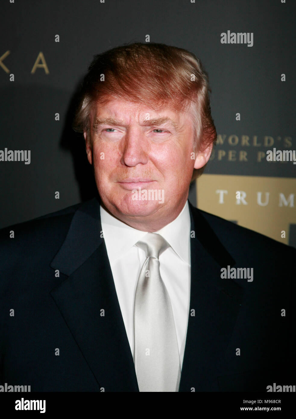 Donald Trump arrives at the Trump Vodka party at Les Deux night club in Hollywood, CA on January 17, 2007. Photo credit: Francis Specker - Stock Image