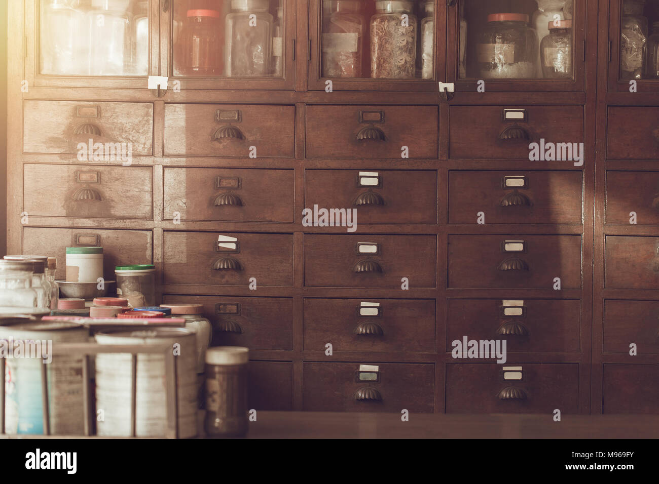 Herbal Cabinets High Resolution Stock Photography And Images Alamy