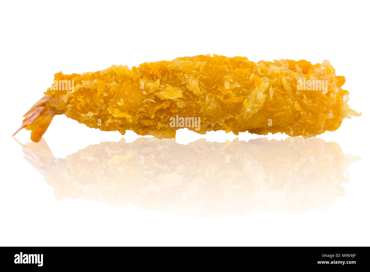 Ebi Fry or Deep Fried Breaded Prawn Shrimp isolated on white - Stock Image