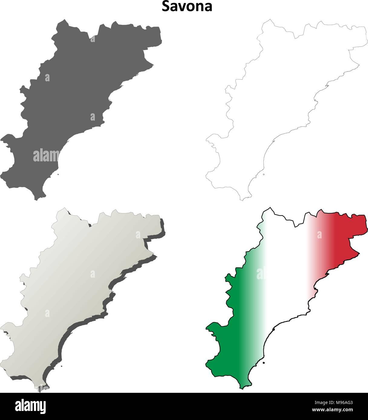 Map Of Savona Stock Photos Map Of Savona Stock Images Alamy