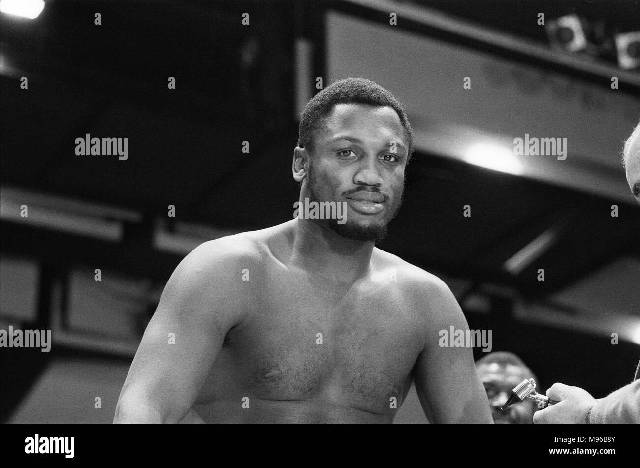 The Fight of the Century (also known as The Fight) is the title boxing writers and historians have given to the boxing match between champion Joe Frazier (26–0, 23 KOs) and challenger Muhammad Ali (31–0, 25 KOs,) held on March 8, 1971, at Madison Square Garden in New York City. Frazier won in 15 rounds via unanimous decision. It was the first time that two undefeated boxers fought each other for the heavyweight title. (Picture) Joe Frazier having a pre-fight medical for 'The Fight of the Century.' 4th March 1971 - Stock Image