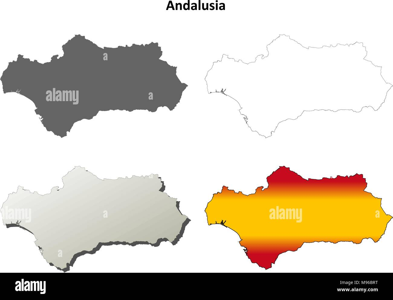 Andalusia Map Stock Photos Andalusia Map Stock Images Alamy