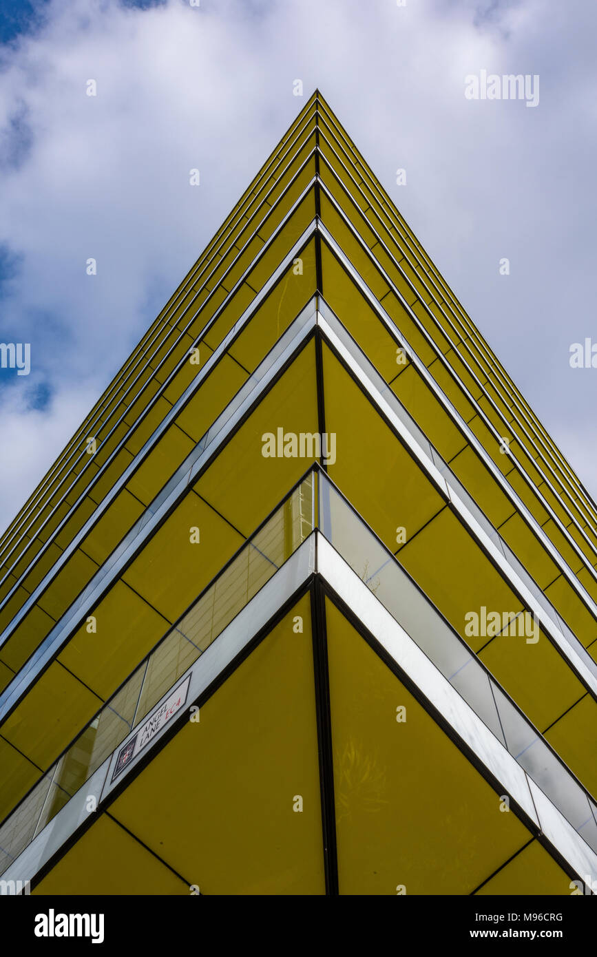 a modern and contemporary abstract building image of state of the art designer offices in central london. Abstract different and unusual viewpoints. - Stock Image