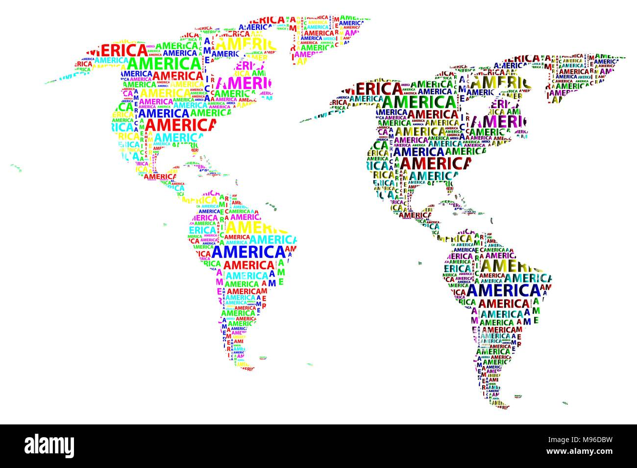 sketch america letter text continent america word in the shape of