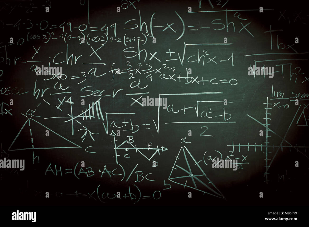 math formula on slate blackboard background stock photo 177779821