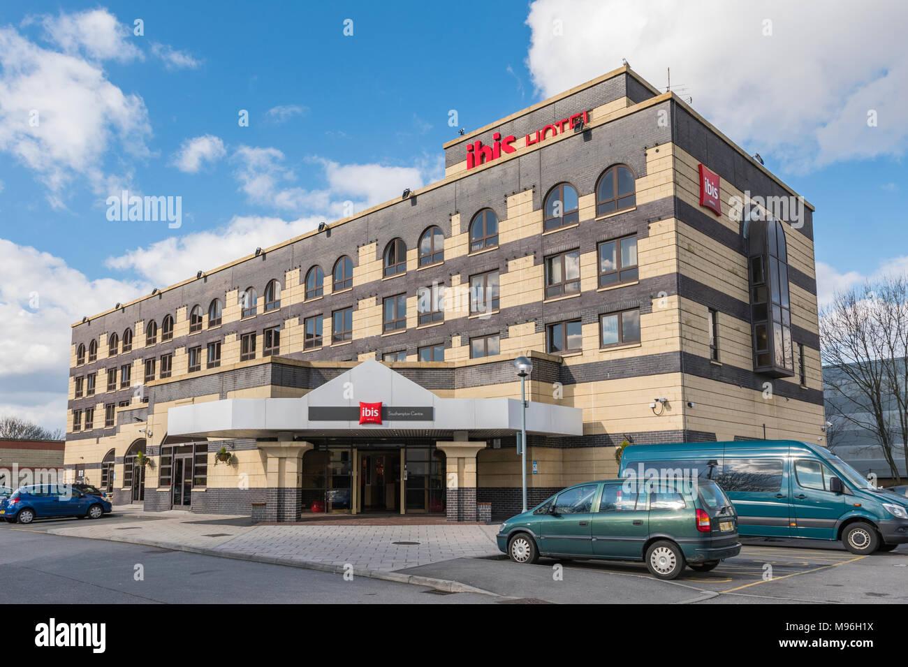Ibis hotel building in Southampton, Hampshire, England, UK. - Stock Image