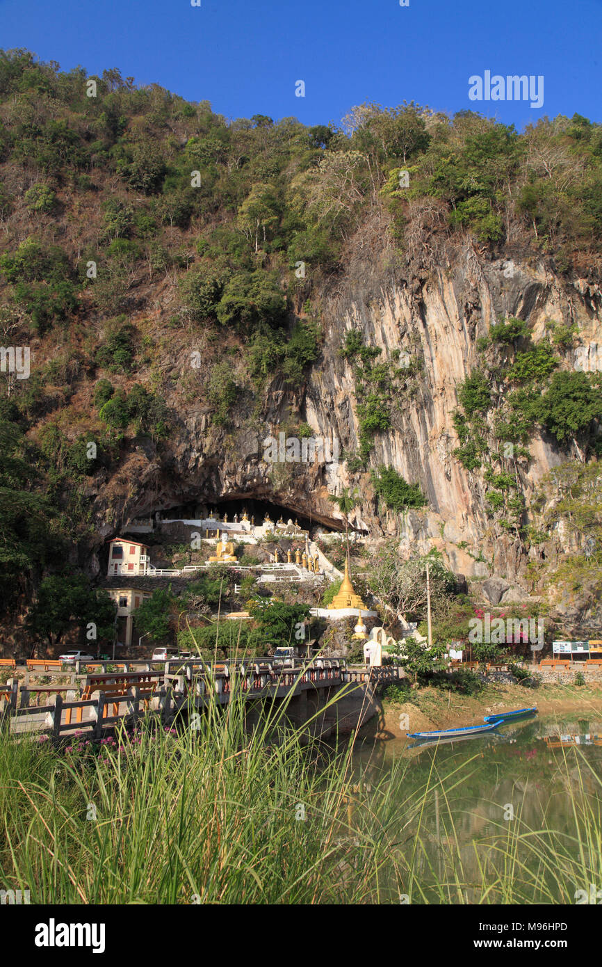 Myanmar, Kayin State, Yathet Pyan Cave, landscape, Stock Photo