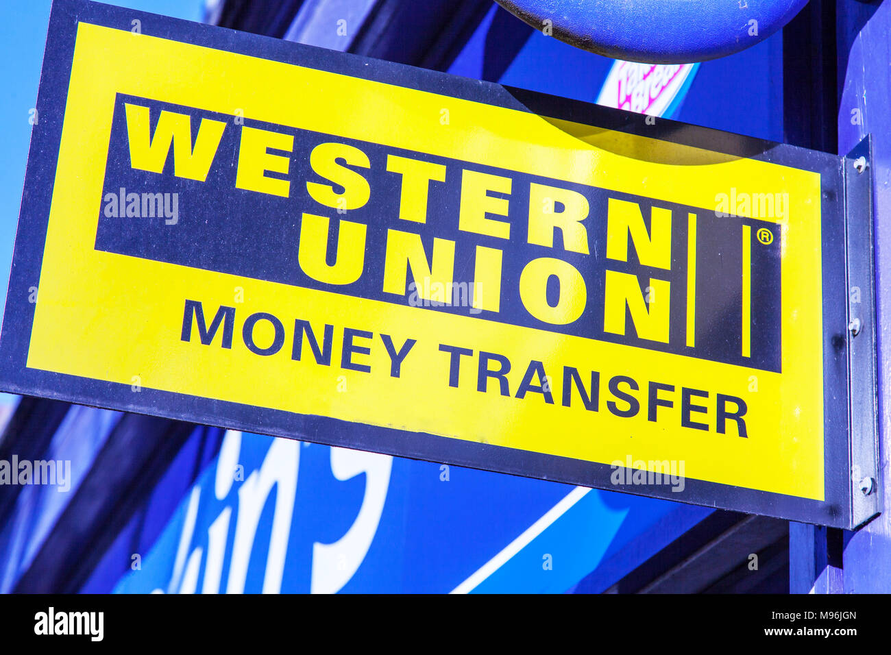 - Stock Name Company Western 177781877 Shop Sign Money Sign Transfer Uk Company Photo Alamy Union