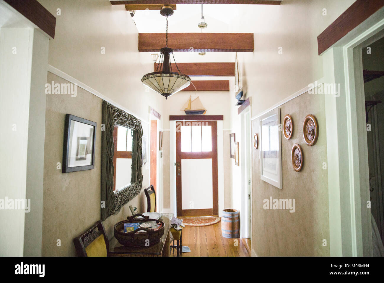 Hallway/Entryway in family home - Stock Image