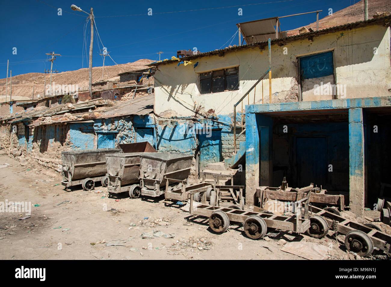 The Cerro Rico silver mines in Potosi, Bolivia - South America - Stock Image