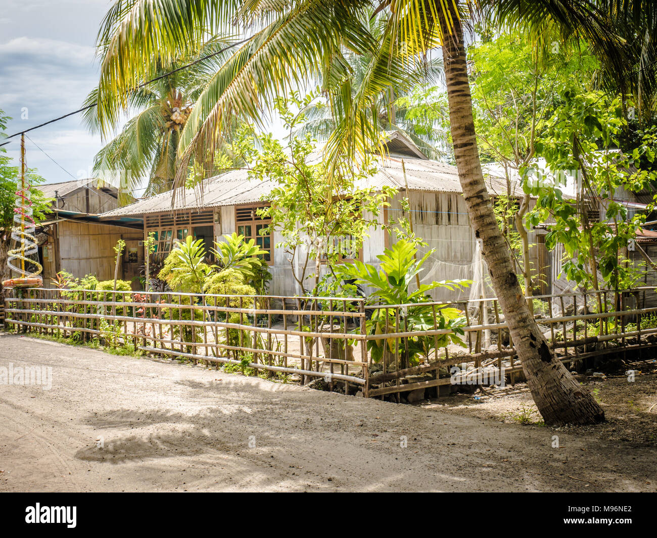 Wooden house in a typical traditional village of south Flores island, East Nusa Tenggara, Indonesia. Outstanding local architecture. - Stock Image