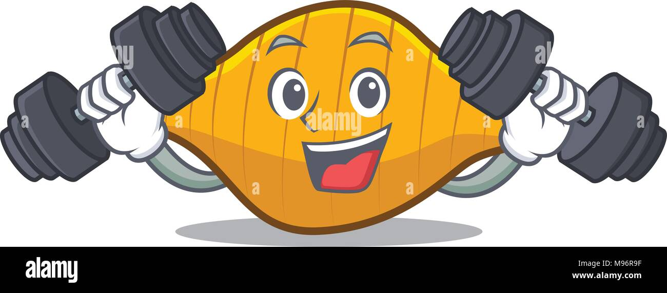 Fitness conchiglie pasta character cartoon Stock Vector