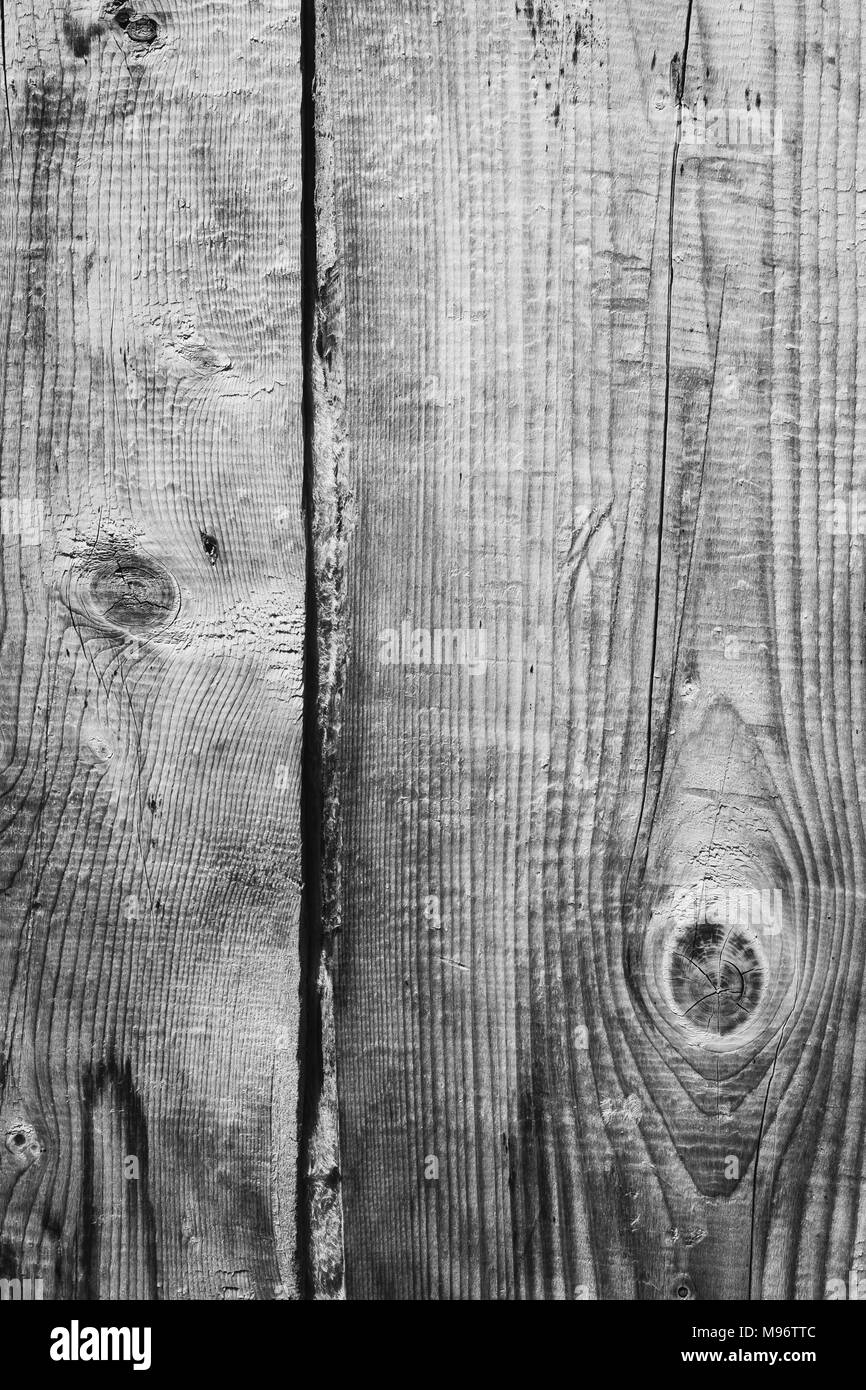 Old wooden planks wall as a background - Stock Image