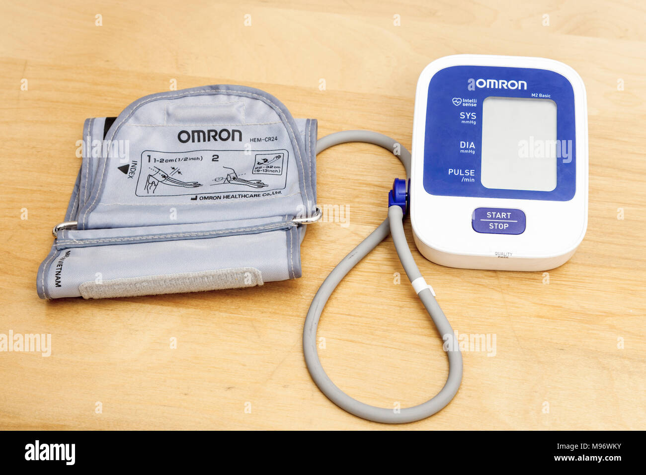 Omron blood pressure monitor - Stock Image