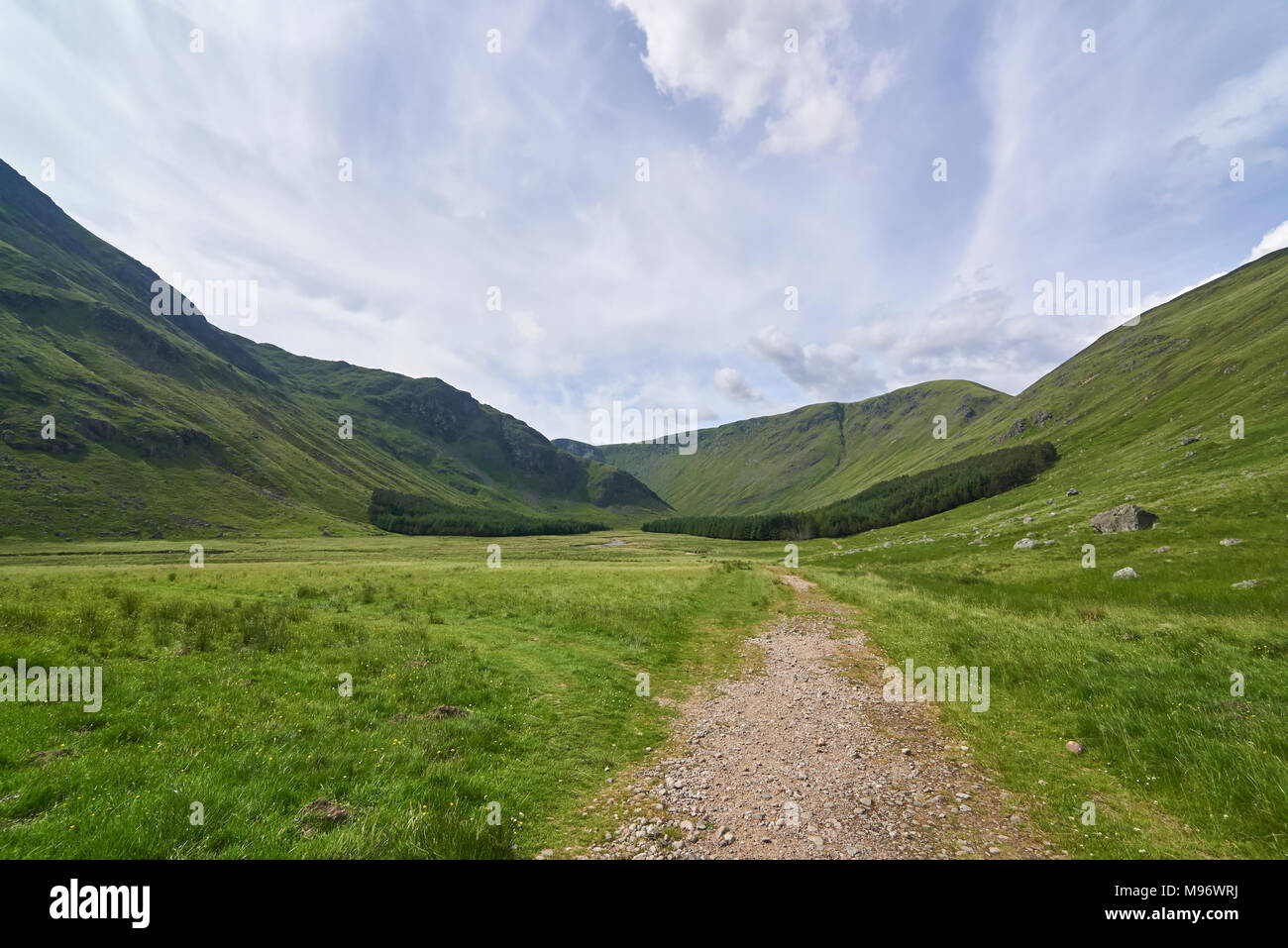 The Footpath looking up Glen Doll, a Glacial U Shaped Valley