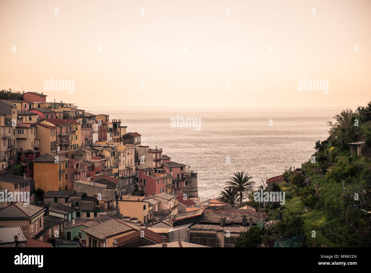 the italian city of Manarola - Stock Image