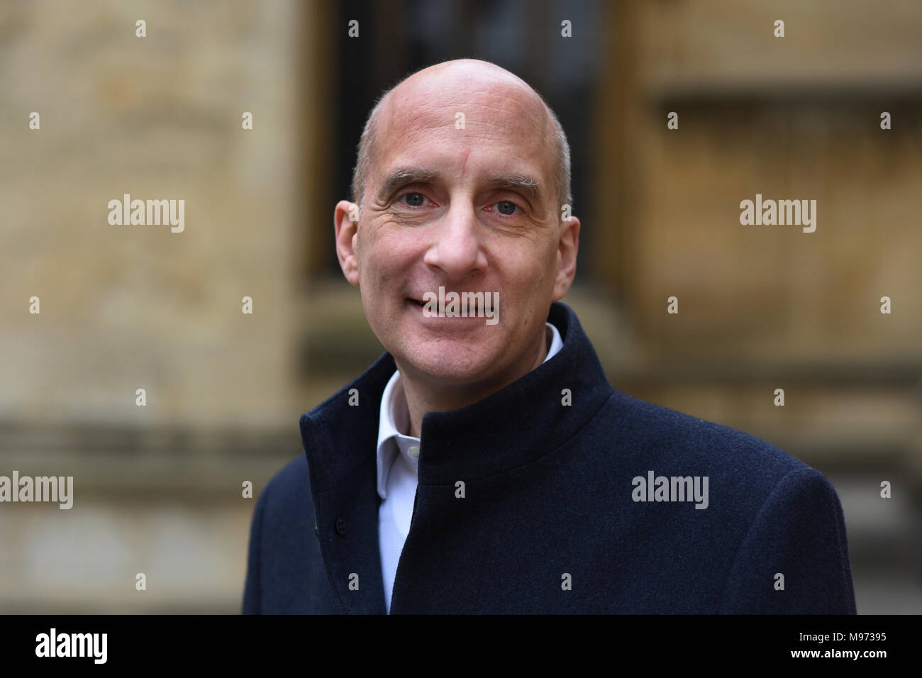 Oxford, UK. 23rd Mar, 2018. Oxford, UK. 23rd March, 2018. Andrew Adonis at Sheldonian Theatre for  FT Weekend Oxford Literary Festival.23 rd March 2018. Oxford . ' What Europe Does For Us and How to Keep the Best of It'.   Credit: Richard Cave/Alamy Live News - Stock Image