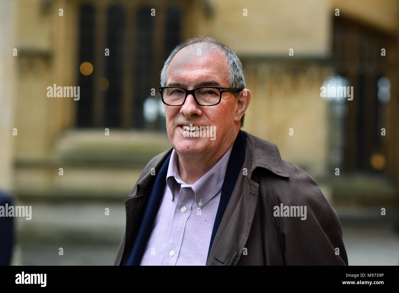 Oxford, UK. 23rd Mar, 2018. Oxford, UK. 23rd March, 2018. Will Hutton at Sheldonian Theatre for  FT Weekend Oxford Literary Festival.23 rd March 2018. Oxford . ' What Europe Does For Us and How to Keep the Best of It'.   Credit: Richard Cave/Alamy Live News - Stock Image