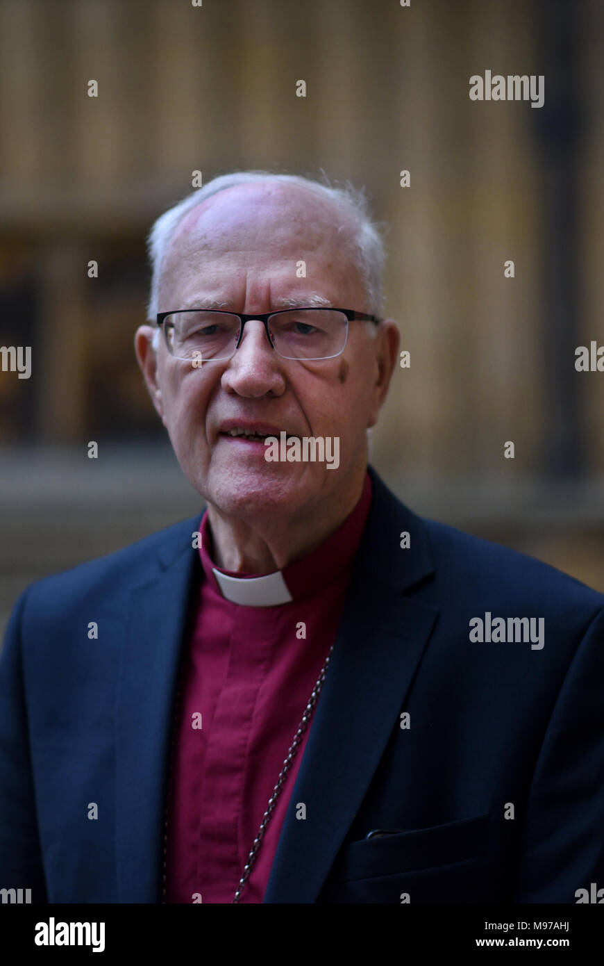 Oxford, UK. 23rd Mar, 2018. George Carey at Oxford Literary Festival 23rd March. 'Just Five Ingredients. Making Britain Great Again'.at  Bodleian: George Carey at Oxford Literary Festival. Divinity School  Richard Cave Photography/Alamy Credit: Richard Cave/Alamy Live News - Stock Image