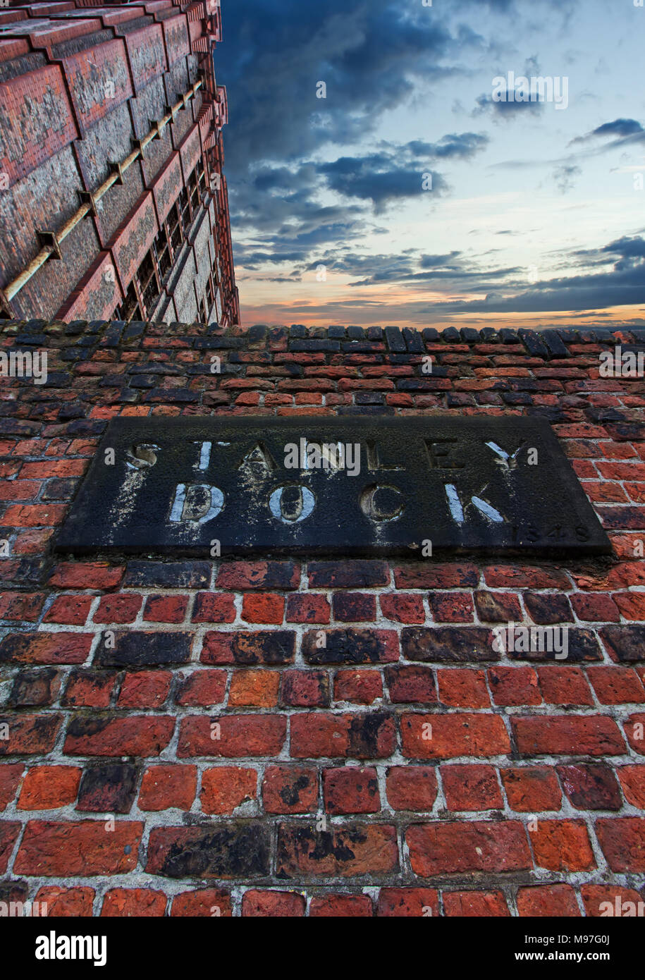 Stanley Dock tobacco warehouse in Liverpool UK. Stock Photo